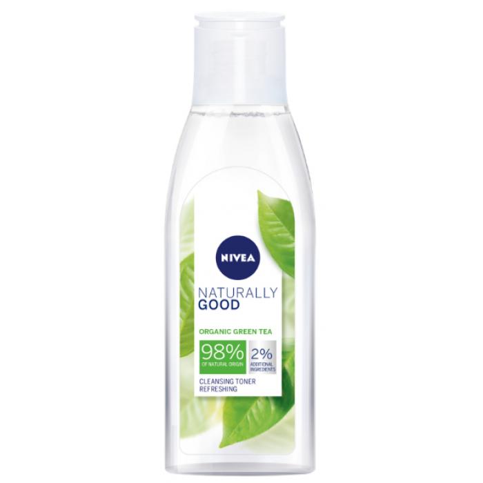 Очищающий тоник для лица Nivea Naturally Good Cleansing Refreshing Toner, 200 мл -