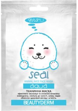 Тканевая маска для лица BeautyDerm Animal Seal Aqva Увлажняющая, 25 мл