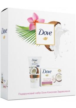 Подарочный набор Dove Кокосовое удовольствие (мыло + крем для рук)