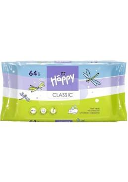 Детские влажные салфетки Happy Classic, 64 шт