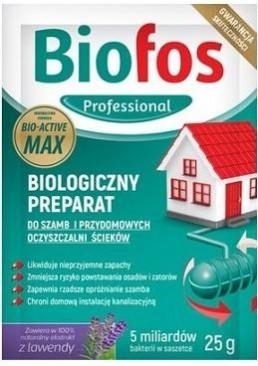 Биологический препарат Biofos Professional для септиков, дачных туалетов и придомовых очистных станций, 25 г