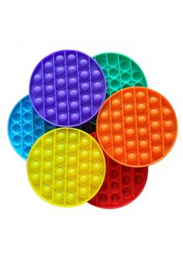 Сенсорная игрушка антистресс POP it Fidget с пузырьками Вечная пупырка (круг), 1 шт
