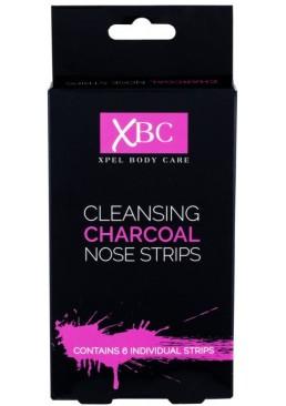 Очищающие полоски для носа с углем Xpel Marketing Ltd Body Care Cleansing Charcoal Nose Strips, 6 шт