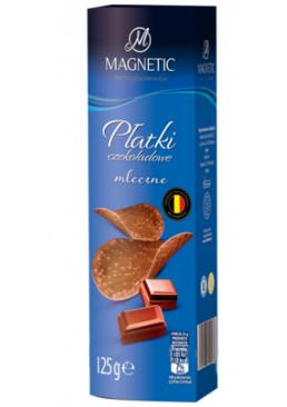 Чипсы шоколадные Magnetic молочный шоколад, 125 г