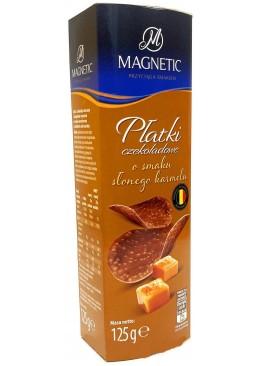 Чипсы шоколадные Magnetic со вкусом солёная карамель, 125 г