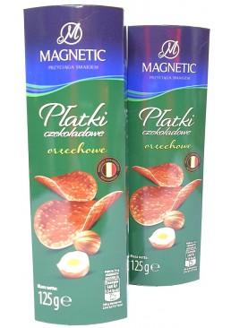 Чипсы шоколадные Magnetic с лесным орехом, 125 г