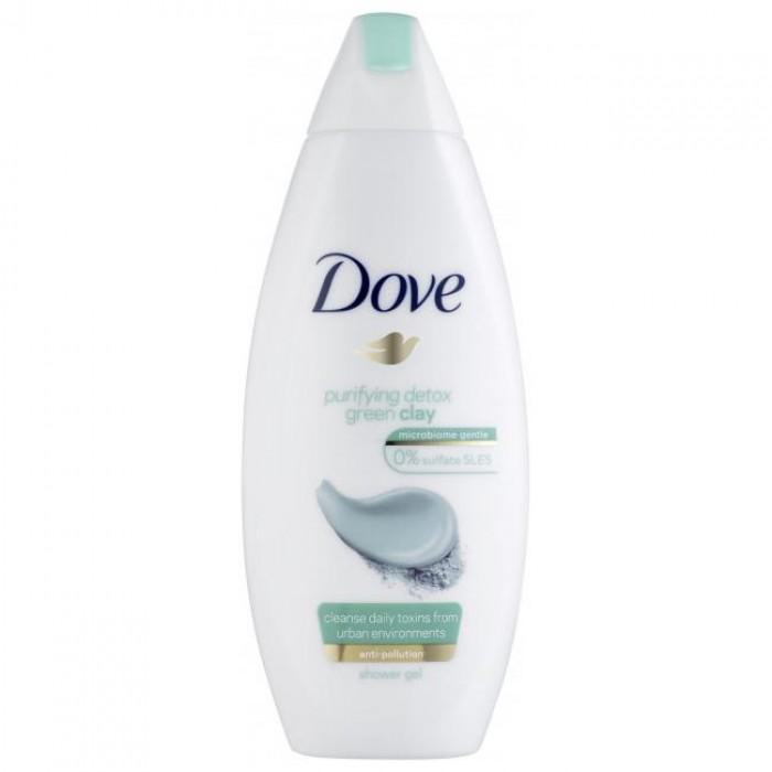 Крем-гель для душа Dove Очищение с зеленой глиной, 250 мл  -