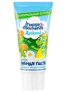 Детская гелевая зубная паста Дракоша Happy Moments со вкусом фруктовой мяты, 60 мл