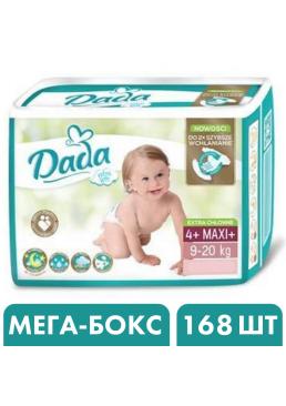 Подгузники Dada Extra Soft 4+ Maxi+ (9-20 кг), 168 шт