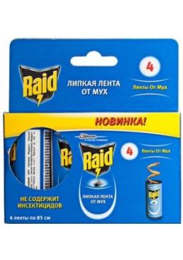 Липкая лента от мух Raid, 4 шт