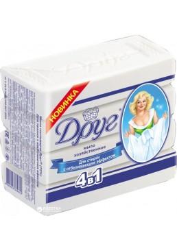 Хозяйственное мыло Друг для стирки с отбеливающим эффектом, 4 х 135 г