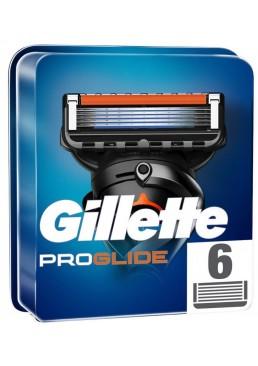 Сменные кассеты для бритья Gillette Fusion Proglide, 6 шт