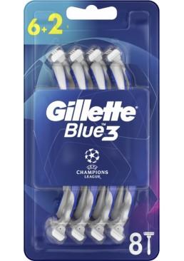 Одноразовые станки для бритья мужские Gillette Blue 3, 8 шт