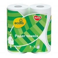 Бумажные полотенца Ecolo Белые 45 отрывов, 2 слоя 2 рулона