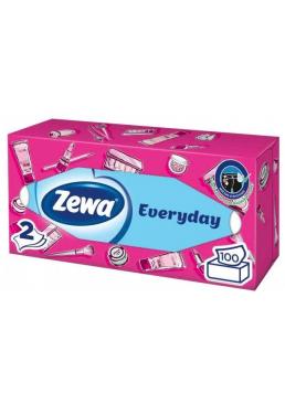 Салфетки косметические Zewa Everyday 2-х слойные, 100 шт