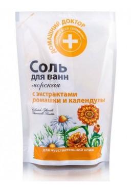 Соль для ванн Домашний доктор С ромашкой и календулой, 500 г