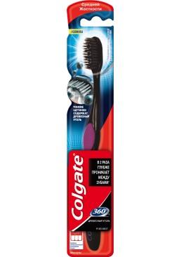 Зубная щетка Colgate 360° Древесный уголь средней жесткости, 1 шт