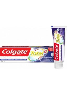 Комплексная зубная паста Colgate Total 12 Профессиональная Отбеливающая Антибактериальная, 75 мл