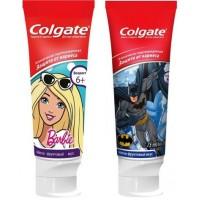 Детская зубная паста Colgate Барби \ Бетмен защита от кариеса от 6 лет, 75 мл