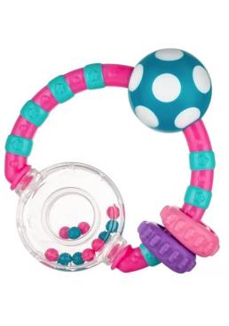 Погремушка Canpol Babies Мячик и цветные шарики Красная, 1 шт