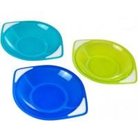 Набор пластиковых тарелок Canpol babies разноцветный, 3 шт