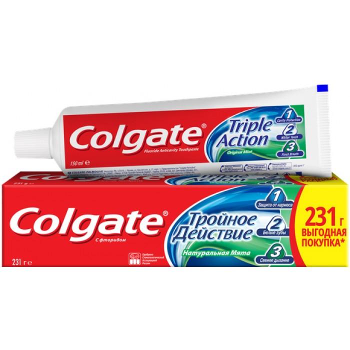 Зубная паста Colgate комплексная Тройное действие Натуральная мята, 150 мл -