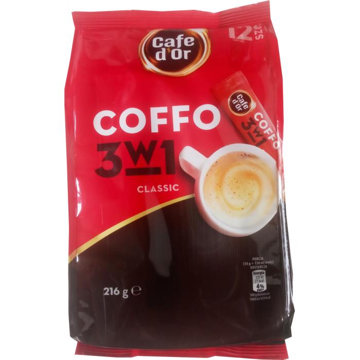 Кофе растворимый в стиках Coffo Cafe d'or классический, 150 г (12 стиков) -