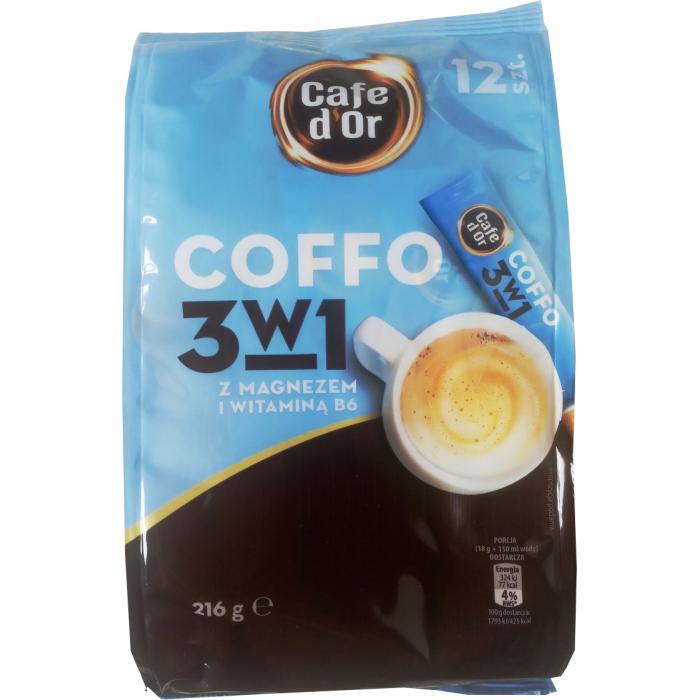 Кофе растворимый в стиках Coffo Cafe d'or с магнием, 150 г (12 стиков) -