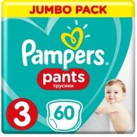 Подгузник Pampers трусики Pants Midi Размер 3 (6-11кг), 60 шт
