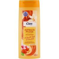 Шампунь для волос с запахом ванили и миндаля Cien Aufbau & Pflege Vanilla & Almonds Shampoo Vegan, 300 мл