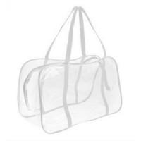 Прозрачная сумка в роддом в ассортименте среднняя, 1 шт (30 х 20 х 13 см)