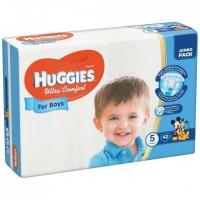 Подгузники Huggies Ultra Comfort 5 для мальчиков (12-22кг) 42шт