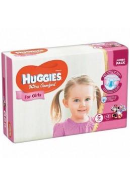 Подгузники Huggies Ultra Comfort 5 для девочек (12-22кг) 42шт