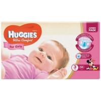 Подгузники Huggies Ultra Comfort 3 для девочек (5-9кг) 56шт