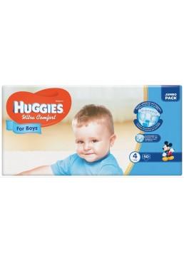 Подгузники Huggies Ultra Comfort 4 для мальчиков  (7-16кг) 50шт
