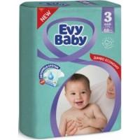 Подгузники детские Evy Baby Midi Jumbo 3 (5-9 кг), 68 шт
