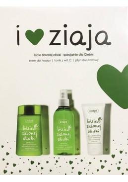 Набор косметики Ziaja Зеленые оливки (крем для лица, тоник для лица, средство для снятия макияжа)