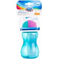 Бутылочка - поилка Canpol со складной трубочкой (с 12 месяцев) синий цвет, 270 мл