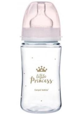 Бутылочка с широким отверстием Canpol babies EasyStart Royal baby антиколиковая (с 3 месяцев), 240 мл