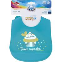 Слюнявчик силиконовый Canpol Babies с карманом (с 4 месяцев), 1 шт