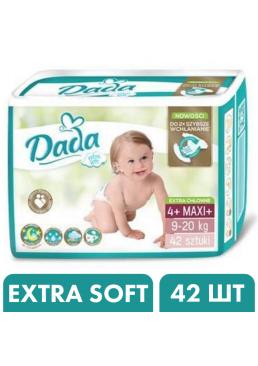 Подгузники Dada Extra Soft 4+ Maxi+ (9-20 кг), 42 шт