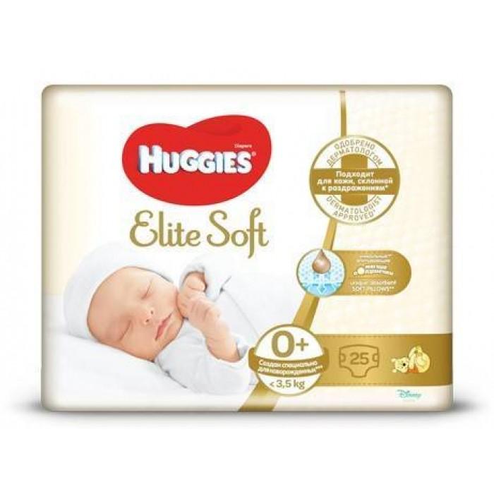 Подгузники Huggies Elite Soft 0+ (до 3.5 кг), 25 шт -