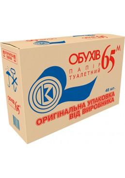 Туалетная бумага Обухов 65 однослойная, 48 рулонов (ящик)