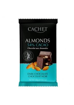 Черный шоколад с миндалём Cachet with Almonds Dark Chocolate 300 г