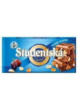 Шоколад Studentska молочный с орехами, изюмом со сливой 180г
