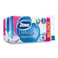 Трехслойна туалетная бумага Zewa Deluxe pure, белый, 16 рулонов