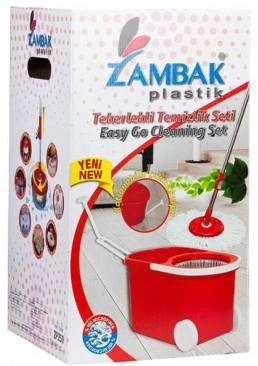 Набор для уборки Zambak Plastik Magic Mop телескопичная швабра