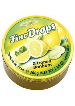 Леденцы Woogie Fine Drops Zitronen со вкусом лимона, 200 г