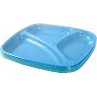 Тарелка для кормления Курносики Синий/Зеленый, 1 шт