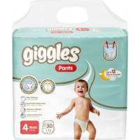 Подгузники-трусики детские Giggles 4 maxi 7-18 кг, 30 шт